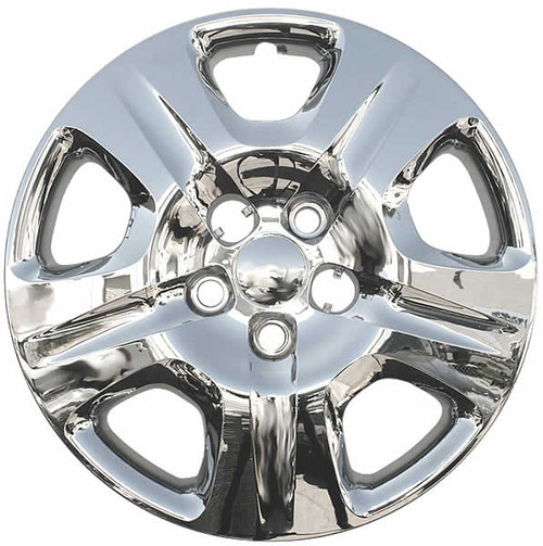 2013 2014 2015 2016 Dodge Dart wheel cover, chrome finish 16 inch replica direct replacement bolt-on Dart hubcap.