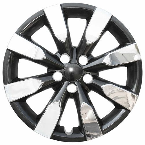Brand new chrome / charcoal 2014 2015 2016 Toyota Corolla wheel cover 16 inch aftermarket replica Corolla hubcap.