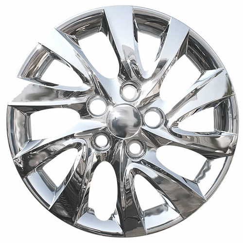 2011-2015 Hyundai Elantra wheelcover. New 16 inch Chrome Replica Bolt-on hubcap.