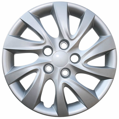 2011-2015 Hyundai Elantra Hubcap. New 16 inch Silver Replica Bolt-on Wheelcover