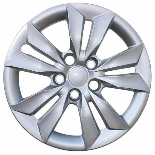 2011-2014 Hyundai Sonata Hubcap. New 16 inch Silver Replica Bolt-on Wheel Cover