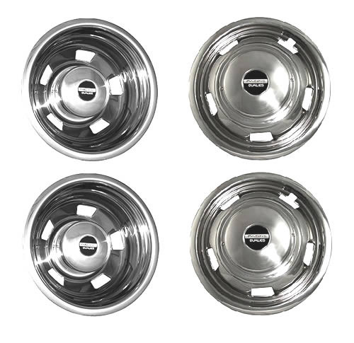 Set of four 2003 -2019 Dodge Ram 3500 truck wheel simulator kit