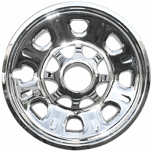 2011 2012 2013 2014 2015 2016 2017 2018 2019 Chevrolet Silverado 2500-3500 HD Wheel Cover Skin Chrome 18 inch wheel skin.