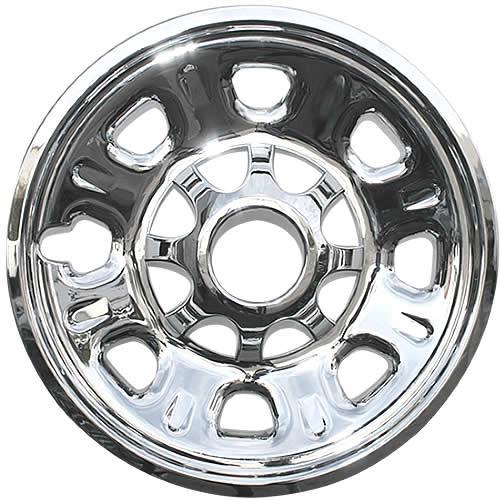 2011 2012 2013 2014 2015 2016 2017 2018 2019 GMC Sierra 2500-3500 HD Wheel Cover Skin Chrome 18 inch wheel skin.