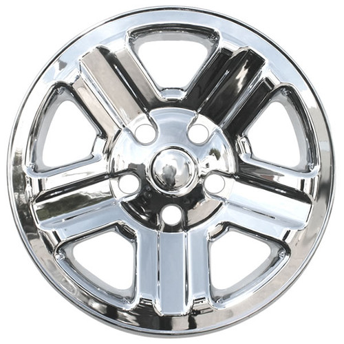 2007-2018 Jeep Wrangler Wheel Skin Cover Chrome 16 inch Hubcap