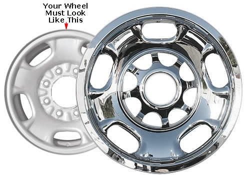 2016 2017 2018 Suburban Wheel Skin Cover 17 inch Chrome Hubcap Suburban 3500