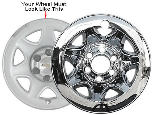 Chevrolet Suburban Wheel Skin Chrome Wheel Cover Fits 2015 2016 2017 2018 Suburban, Your Wheel Must Look Like the Wheel in Photo