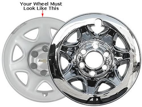 Chevrolet Suburban Wheel Skin Chrome Wheel Cover Fits 2015 2016 2017 2018 Suburban, Your Wheel Must Look Like the Wheel in Photo