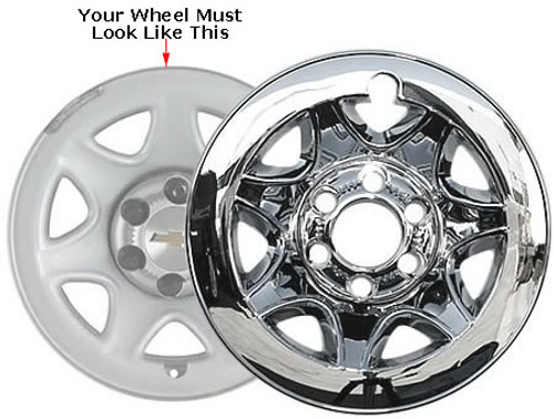 Chevy Tahoe Wheel Skin Chrome Wheel Cover Fits 2015 2016 2017 2018 Tahoe, Your Wheel Must Look Like the Wheel in Photo