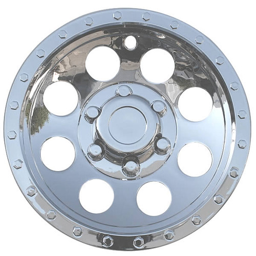 8 inch Wheel Covers Bead Lock Style Chrome 8' Hubcaps for ATV, Mower, Golf Cart