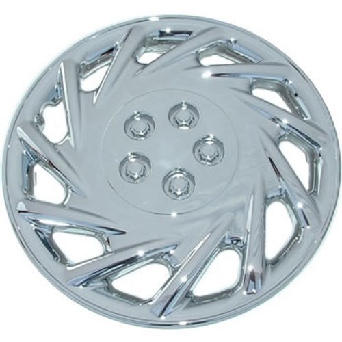 "14 inch hubcap chrome finish replacement aftermarket 14"" wheel cover."