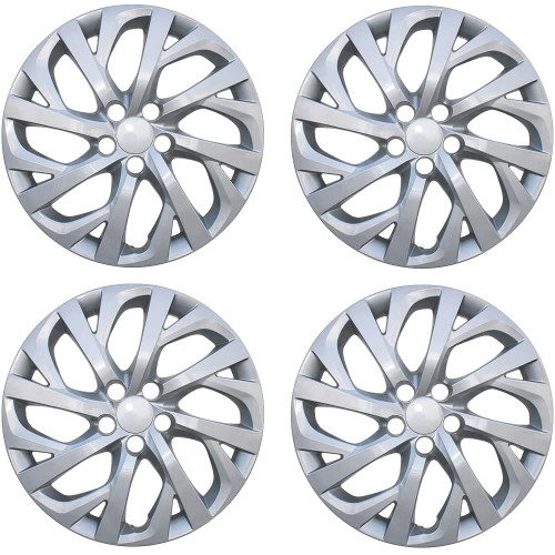 2017 2018 2019 Toyota Corolla Hubcap Silver Finish Replacement Wheel Cover Set of 4