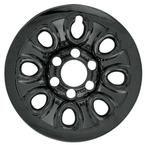"2011 2012 2013 2014 Cadillac Escalade Black Wheel Cover Skins 17"" Black Escalade Hubcaps"