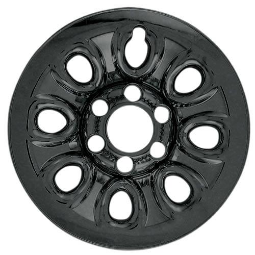 "2011 2012 2013 2014 Cadillac Escalade Black Wheel Cover Skins 17"" Black Escalade Hubcaps"