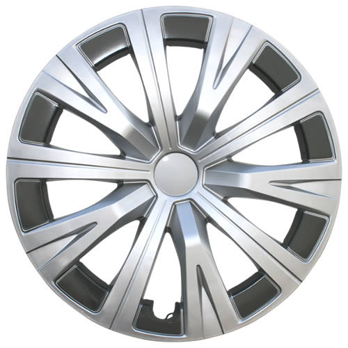 Silver and Charcoal Finish 2018 2019 2020 Camry Hubcaps 16 inch, 10 Spoke Replica Toyota Camry Wheel Covers