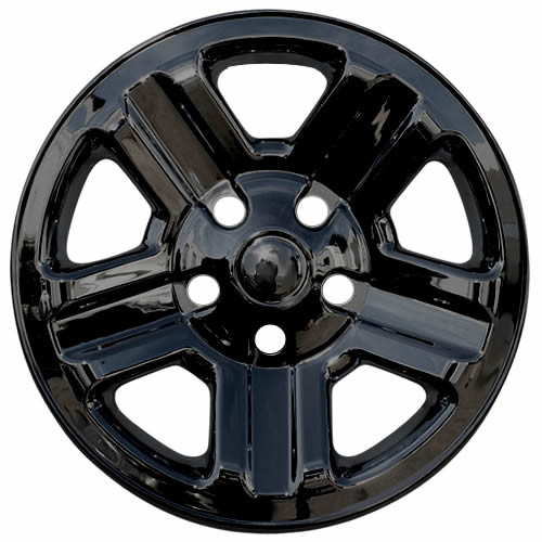 Black 2007-2018 Jeep Wrangler Wheel Cover Skins Black 16 inch Hubcaps