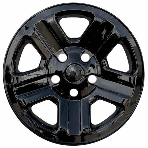Black 2007-2018 Jeep Wrangler Wheel Cover Skins Black 16 inch Hubcaps