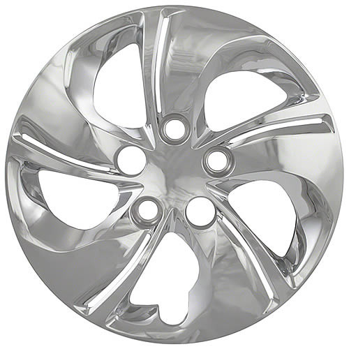 Brand New Chrome 2013 2014 2015 Honda Civic Hubcap Replica 5 Spoke Twisted Bolt-on 15 inch Aftermarket Civic Wheel Cover