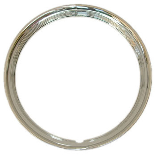 "15"" Ribbed Trim Rings Beautiful Solid Stainless Steel 4 Ribbed Beauty Rings"