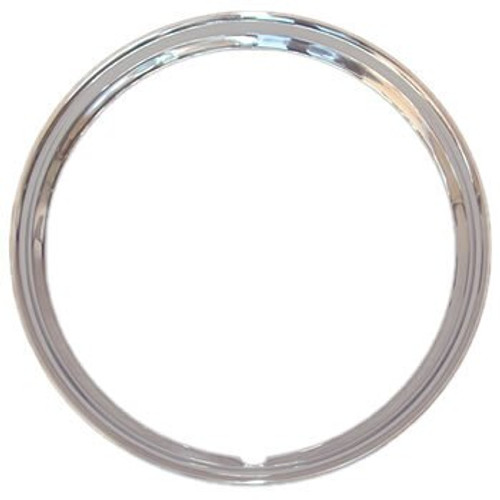 """15 inch Solid Stainless Steel Trim Rings Smooth 1-5/8"""" Deep."""
