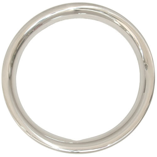 12 inch Solid Stainless Steel 1-3/4 inch Deep Trim Rings,  Polished to Chrome Luster Beauty Rings
