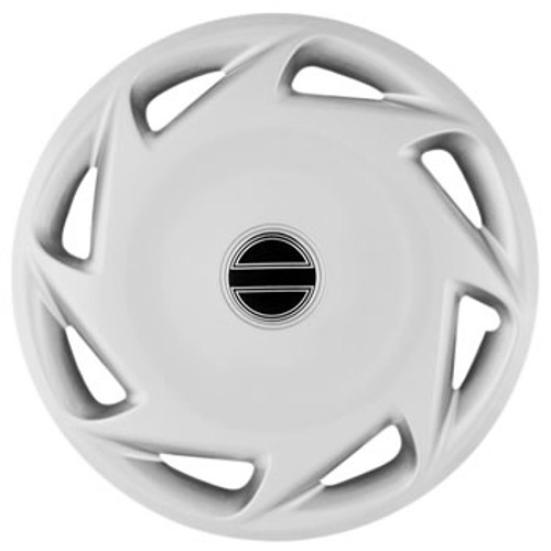 """Custom Universal Fit 15"""" Wheel Covers Silver Finish Hubcaps"""
