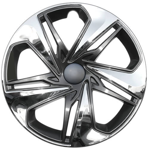 2019 2020 2021 Honda Civic hubcap. Replica 16 inch Civic wheel cover with a beautiful chrome with charcoal accents finish.