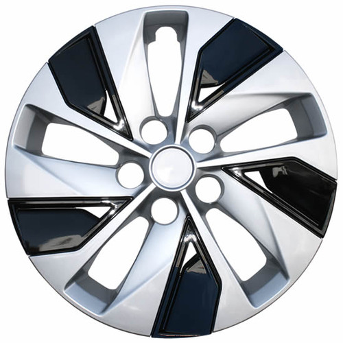 Brand New Silver and Black Finish 2019 2020 2021 Nissan Altima Hubcaps Aftermarket Replica Direct replacement Altima Wheel Cover.