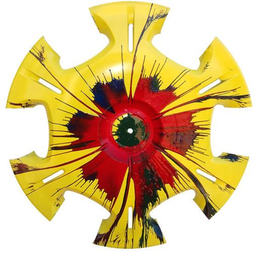 Blazin' Daisy - Vintage Hubcap Art