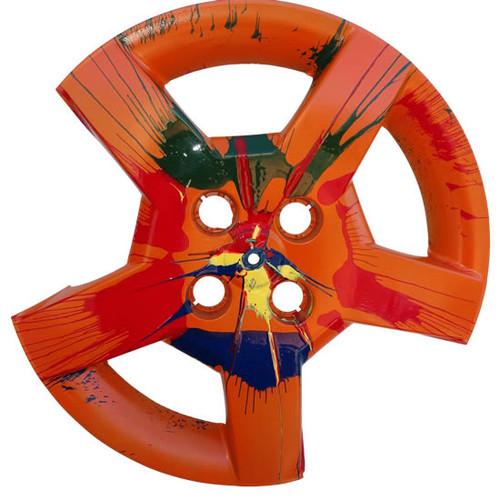 """""""Wild Ginger"""" Vintage Wheel Cover Hub Cap Art"""