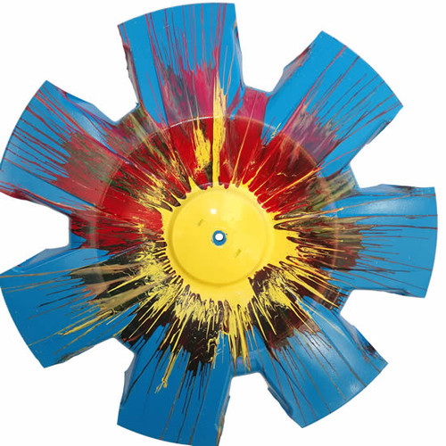 """""""Morning Glory"""" Vintage Hubcap Art Wheel Cover One of a Kind Art Piece"""