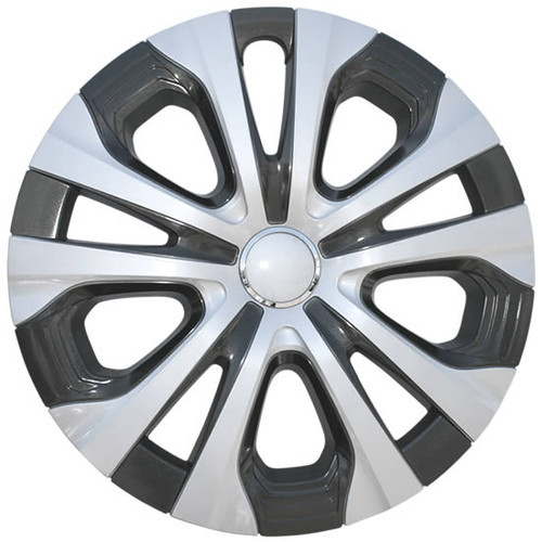 2019 2020 2021 Prius Wheel Covers Silver and Charcoal Pattern Finish 15 inch Imposter Toyota Prius Hubcap