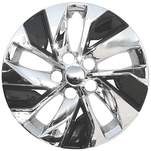Brand New Chrome and Black Finish 2019 2020 2021 Nissan Altima Wheel Covers Aftermarket Imposter Direct replacement Altima Hubcaps.