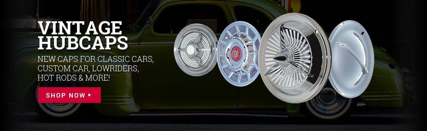 "15/"" Starburst Chrome Steel Wheel Cover Hub Caps Street Hot Rod Classic Vintage"