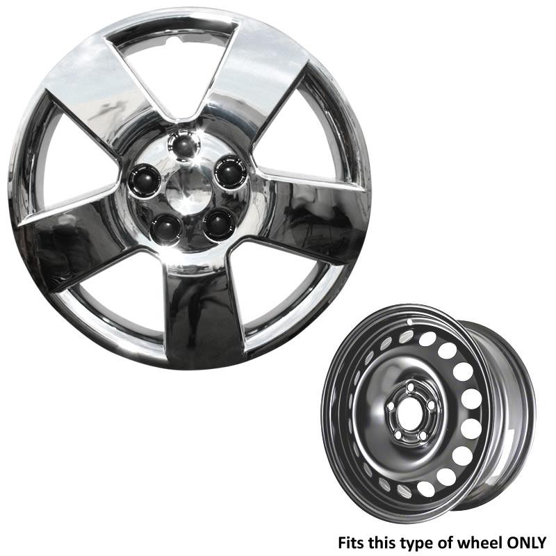 "2005-2006 Chevy Chevrolet Colorado Chrome Wheel Skins Hubcaps 15/"" Wheel Cover"