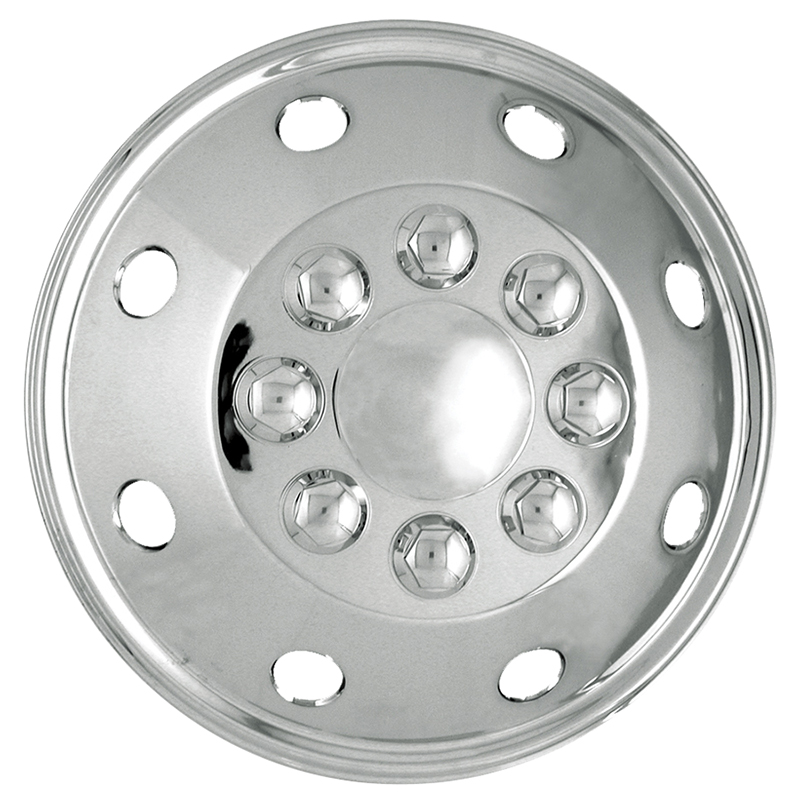 16 inch Universal Fit Motorhome Hubcaps Polished Stainless Steel RV Wheel  Covers