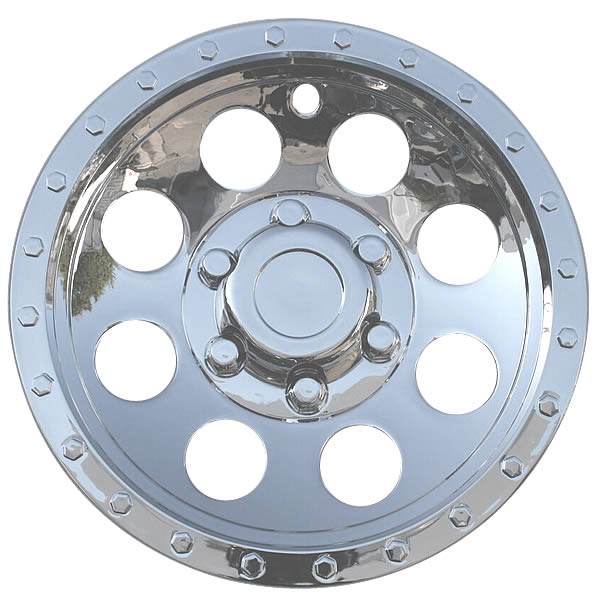 8 Inch Hubcap For Atv Golf Cart Mower Etc Chrome Bead Lock Style