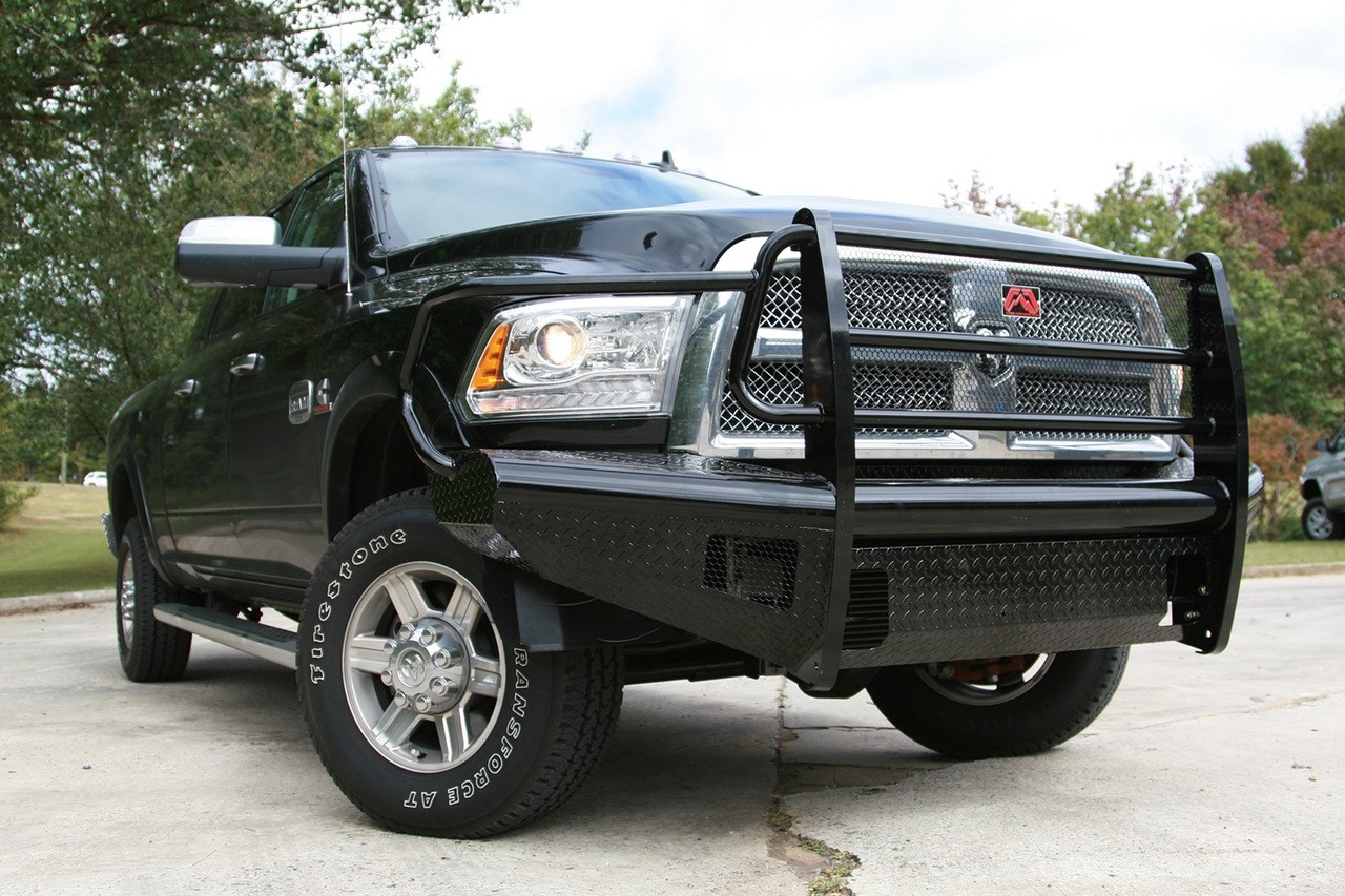Fab Fours Dr10 S2960 1 Black Steel Front Ranch Bumper Dodge Ram 2500