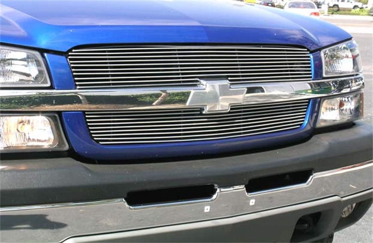 T-Rex Grilles 21106 Horizontal Aluminum Polished Finish Billet Grille Overlay for Chevrolet Silverado 2500HD 3500