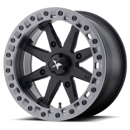 "0mm Black//Machined Wheel Rim 14/"" Inch MSA F1 R-Forged 14x7 4x110"
