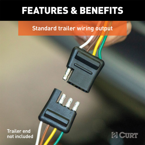 CURT 58907 Custom Towed-Vehicle RV Wiring Harness for Dinghy Towing Curt Manufacturing