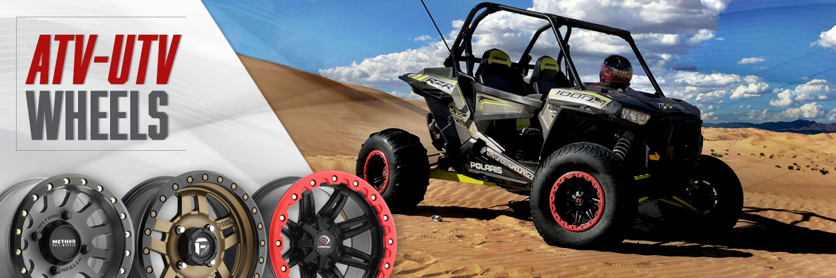 Fuel D538 Maverick ATV//UTV 16x7 4x110 13mm Black//Milled Wheel Rim
