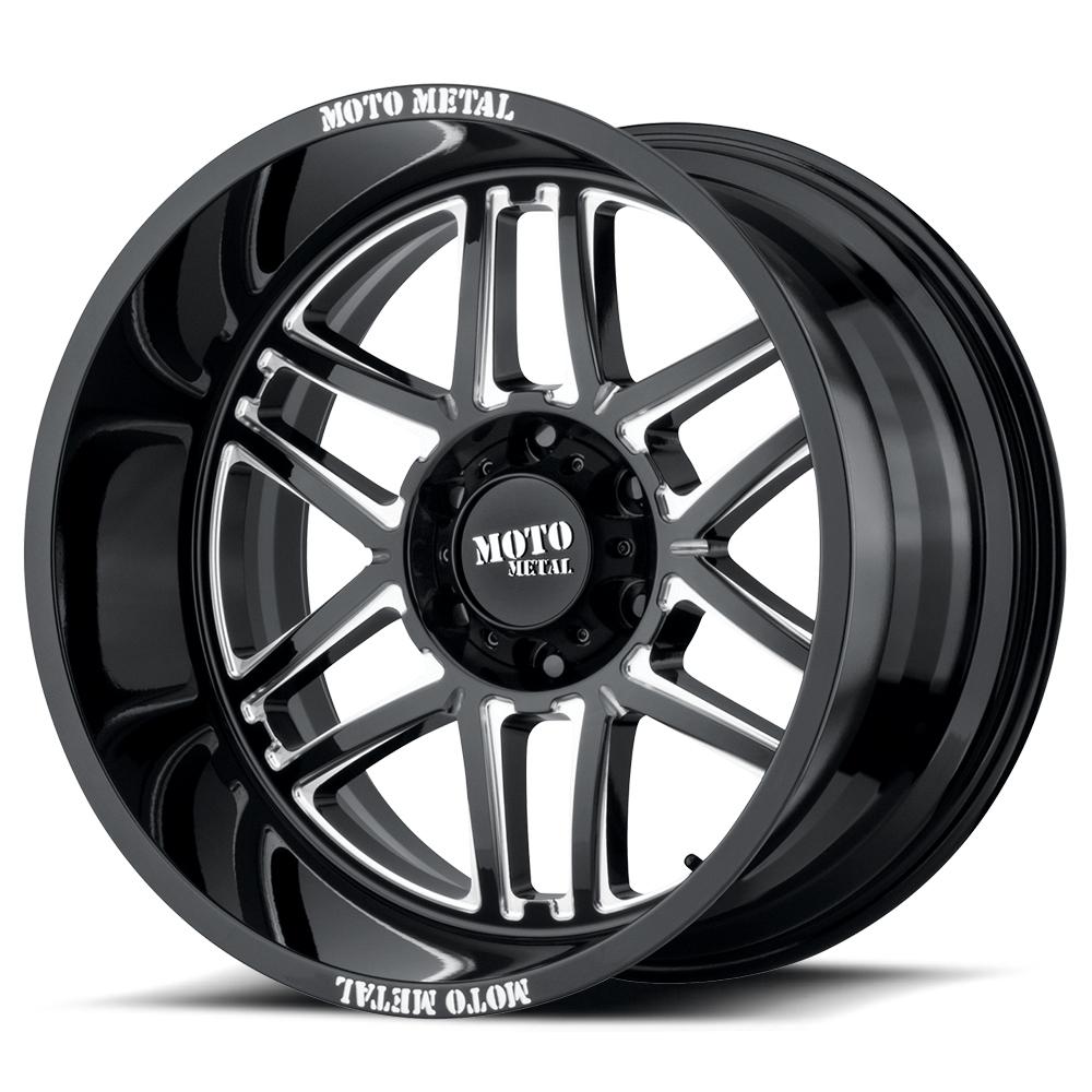 Moto Metal MO992 Folsom Gloss Black Milled Wheels Rims 6 Lug