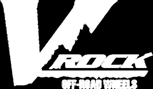 V Rock Wheels logo white