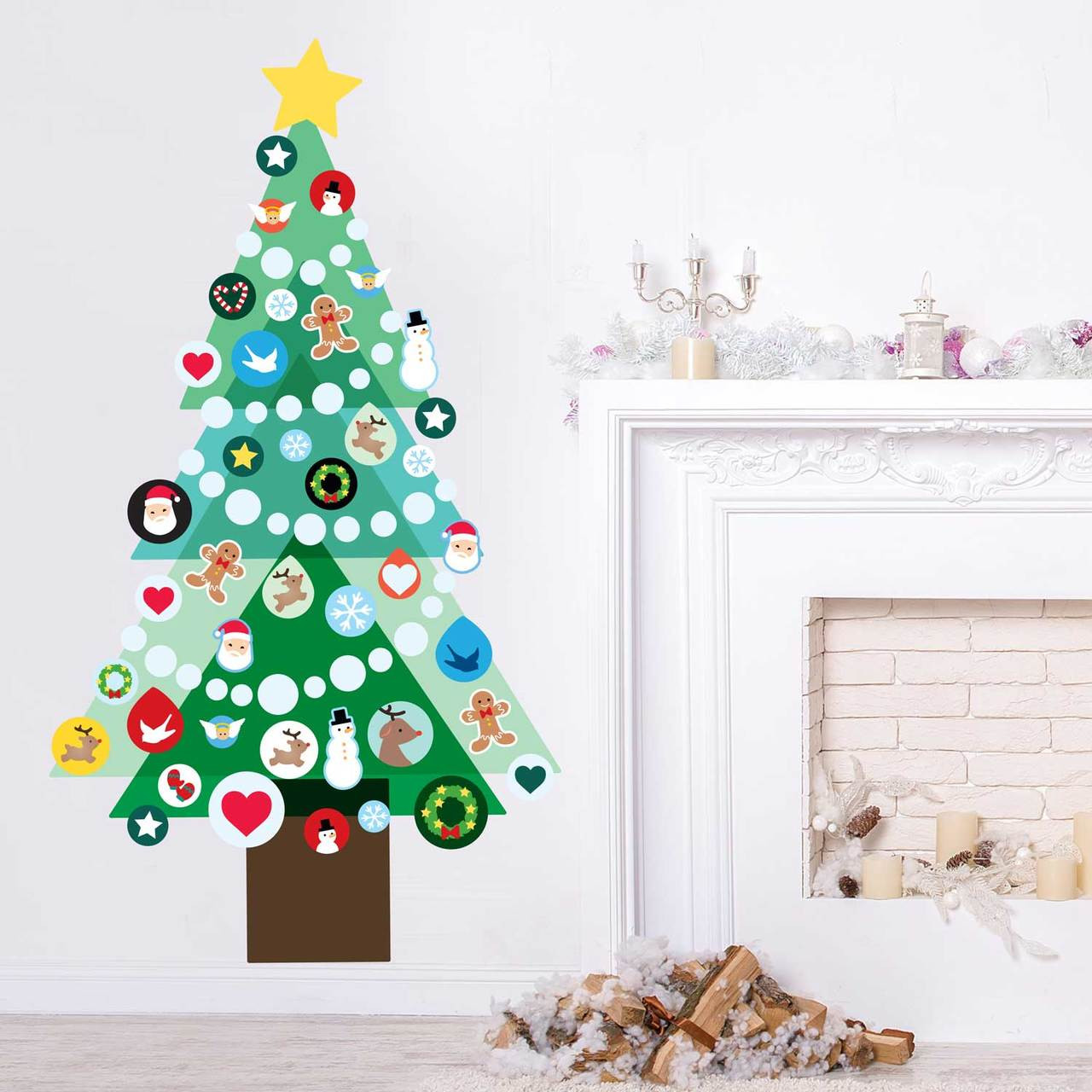 Decorate Your Own Christmas Tree Wall Decal Kit - Christmas Activity ...
