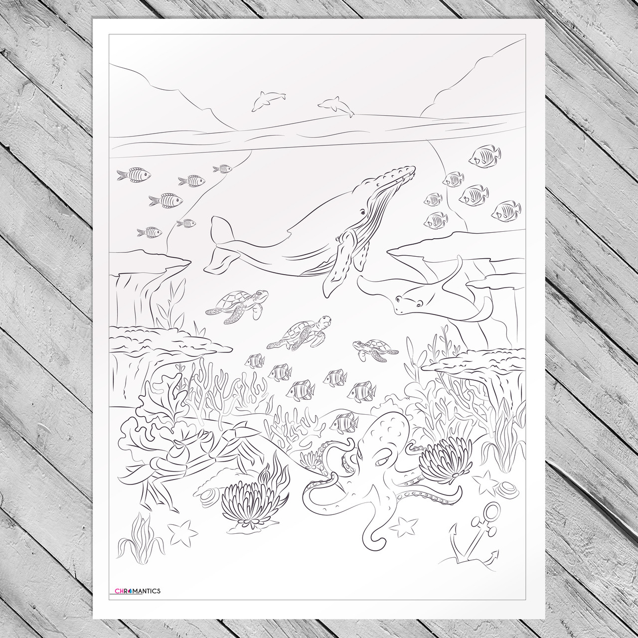 Giant Coloring Poster by Chromantics