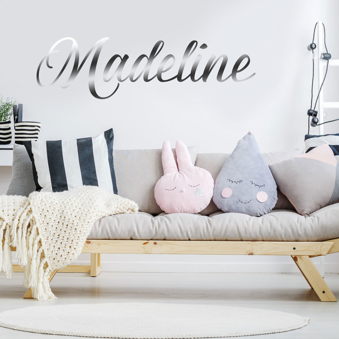 Custom name wall decal in font 2