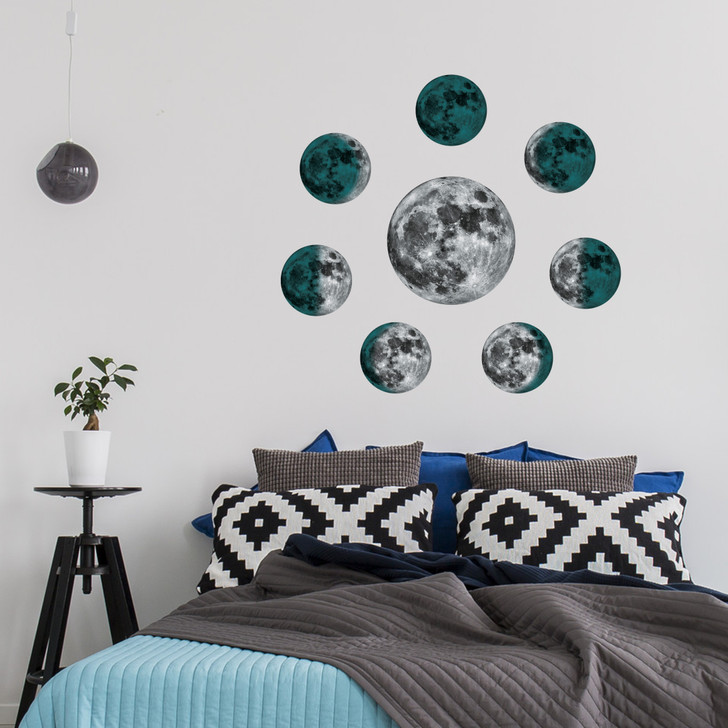 Moon Phases Wall Decal Sticker Mural