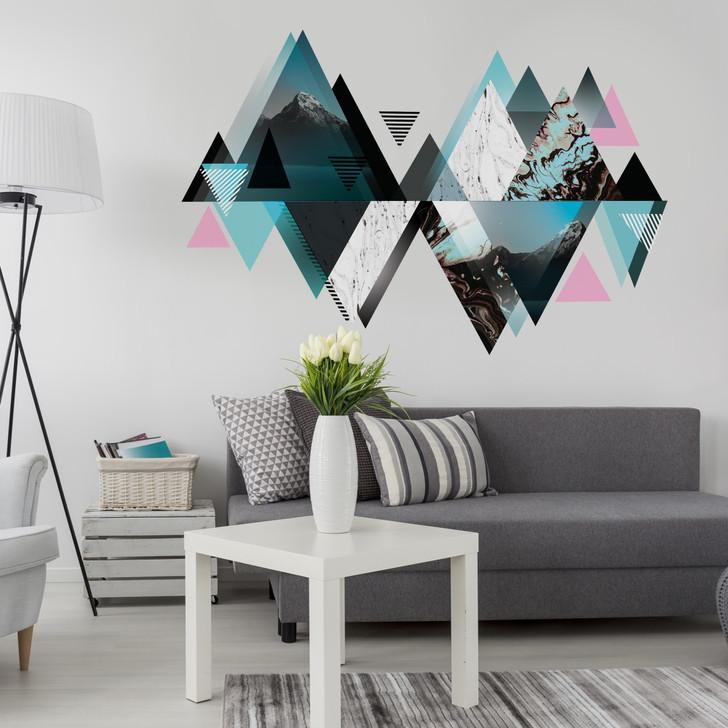 Geometric Mountain Wall Decal Mural