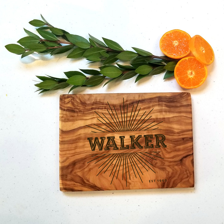 Starburst Personalized Last Name Charcuterie Board - Wedding Gift, Engagement and Housewarming